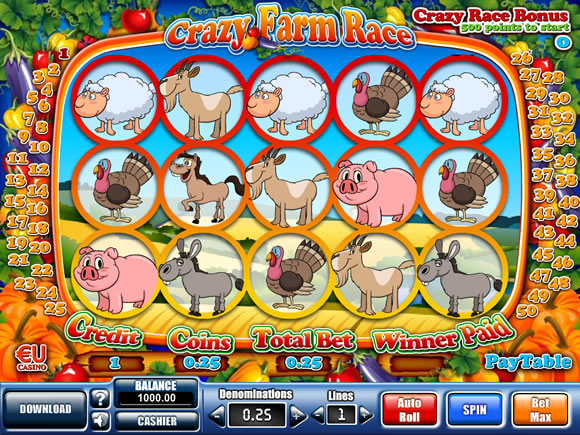 Slot Machine Crazy Farm Race