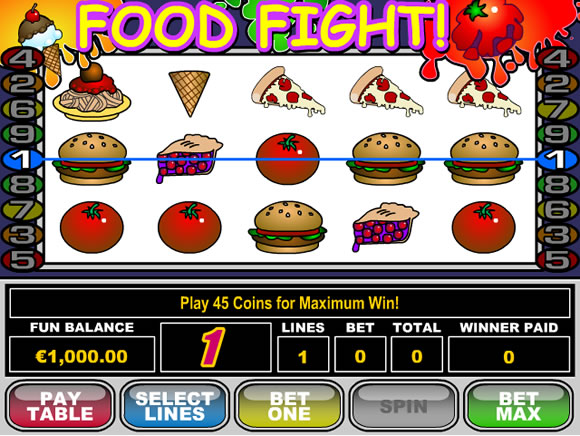 Slot Machine Food Fight