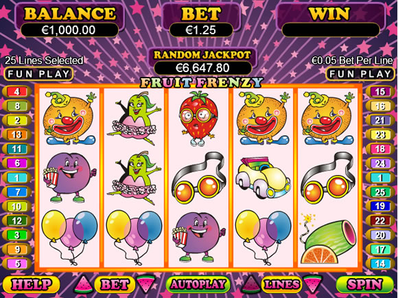 Slot Machine Fruit Frenzy